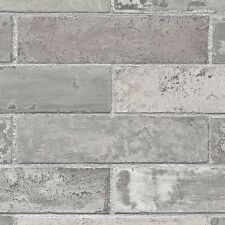 Grey Realistic Brick Wallpaper LL29533