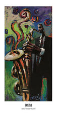 "African American Art ""SAXified"" Black Jazz Music Print by Charly Palmer"