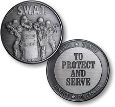 Protect and Serve Police SWAT antique nickel challenge coin