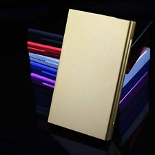 Gold Women Lady Thin Slim Aluminum Wiredrawing 20 Cigarette Case Box Holder