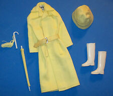 Vintage Barbie Doll RAIN COAT Complete #949 Stormy Weather Umbrella 1963