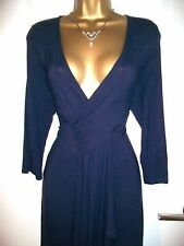 New ✨ Phase Eight ✨ Marcia Size 14 Navy Smooth Fine Knit Jersey Dress BNWT