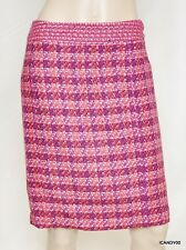 Nwt $278 Tory Burch DARREN Tweed Classic Straight Pencil Skirt ~Merlot/Multi *14