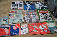Lot of 14 Baseball Magazines & Books Sports Memorabilia Vintage, USC#503