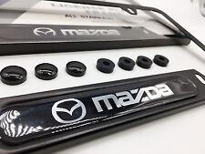 Premium Satin Black License Plate Frame for MAZDA 3 5 6 RX7 RX8 MX5 CX9 Protege