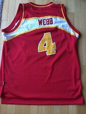 Spud Webb Signed Atlanta Hawks 1986-1987 Jersey NBA, Hardwood Classics In Person