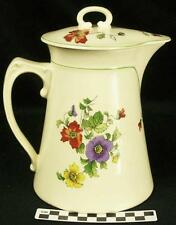 Steubenville Pottery Large Pitcher Jug Carafe & Lid Yellow Red Purple Poppies HH