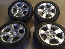 "20"" CHEVY SILVERADO TAHOE SUBURBAN OEM WHEELS WITH TIRES"