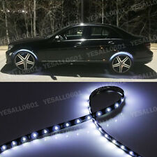 "4x 24"" White LED Wheel-Well Neon Glow Flexible Strip Lights Car Fender Lamps Kit"