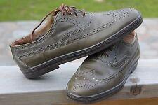 Mens FLORSHEIM V Sage Green Leather WINGTIP OXFORD Shoes 966720, 84306 Sz 9.5 D