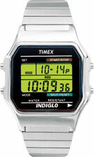 Timex T78582, Men's Digital X-Long Silvertone Expansion Band Watch, T785829J
