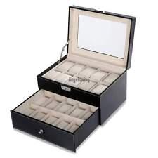 Uhrenkoffer Uhrenbox Uhrenkasten Schaukasten 20 Watch Display Storage Boxes Neu