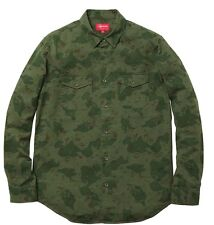 SUPREME GREEN CAMO CHIP FIELD SHIRT F//W 2012 BOX LOGO SZ XL