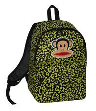 PAUL FRANK - JULIUS MONKEY LEOPARD PRINT SCHOOL BACKPACK - LIME/BLACK