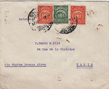 Lettre Bolivie pour Paris Via Buenos-Aires 1924 Bolivia Cover Brief
