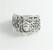 Vintage Woman 316L Stainless Steel Vogue Design Mini Skull Ring Size 8  HOT