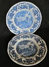 2 PLATES ROYAL HOMES OF BRITAIN - Blue, Enoch WEDGWOOD Tunstall Ltd. England