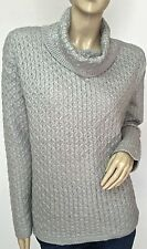 $44 NWT SONOMA Authentic Women's Fashion Cowl Neck Gray Sweater Tunic Size XL