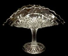 Feathered Medallion Banana Fruit Stand Clear Pattern Glass Bryce Higbee 1905