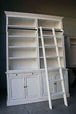 NEW FRENCH PROVINCIAL LIBRARY BOOKCASE SHELF KITCHEN CABINET & LADDER (111-268)