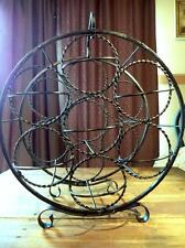 Vintage Wrought Iron Wine Rack Table Top 7 Bottle