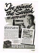1940 AD AUTO-LITE BATTERIES, CAR AUTOMOBILE CASH REGISTER, FREEZ-D-TECTOR  TESTS