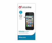 NUEVO CELLULARLINE ROTECTOR PANTALLA IPHONE 4S/4