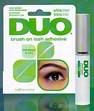 *NEW* DUO BRUSH ON Striplash Adhesive Glue CLEAR Eyelash Lash False Fake Lashes