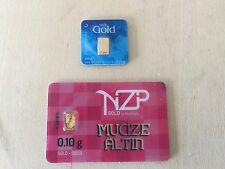 Nadir 0.1 GRAM 24K GOLD and Niziplioglu (NZP) 0.1 Gram 24K GOLD, LOWEST ON EBAY!