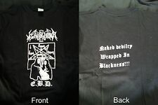 "NECROPLASMA ""E.B.D."" XL T-shirt Ondskapt Watain Malign Darkthrone Mayhem"