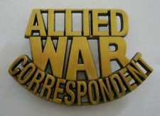 WWII - ALLIED WAR CORRESPONDENT (Reproduction)
