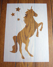 Unicorn Stencil + Positive Mask Reusable Mylar Sheet for Arts & Crafts, DIY