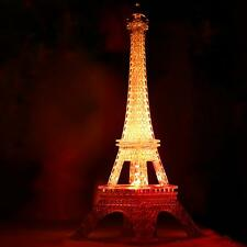 Fashion Eiffel Tower Night Light Decoration LED Lamp Desk Bedroom Lighting