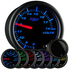 52mm GlowShift Tinted 7 Color Volt Gauge - GS-T705