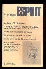 ESPRIT 2.1980 dossier Qui a peur de la philosophie ?, Afghanistan Afrique Buber