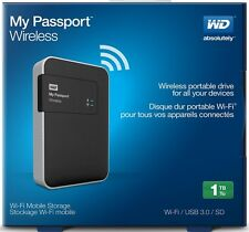 WD 1TB My Passport WiFi Wireless Mobile Hard Drive WDBK8Z0010BBK-NESN - NEW