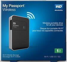WD 1TB My Passport WiFi Wireless Mobile Hard Drive WDBK8Z0010BBK-NESN - NEW