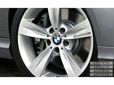 4x Twin Power Turbo BMW Performance Leichtmetallfelgen Aufkleber-Set