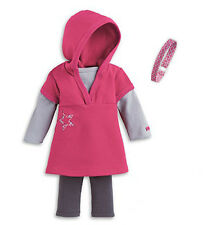 "American Girl JLY STAR HOODIE TUNIC W/ HEADBAND for 18"" Dolls Clothes Shirt NEW"