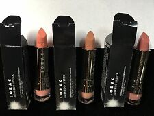 Lorac Lot of 3 GREAT NUDE Lipsticks in Southern Belle, Socialite, and Duchess