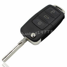 3 Buttons Folding Car Remote Flip Key Shell Case For VW Golf Passat Polo Bora