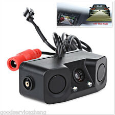 3 in 1 Dual Reversing Radar Sensor & Car Rear View Camera Backup Night Vision