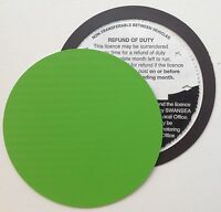 magnetic tax disc holder GREEN carbon fibre Fits volkswagen vw vauxhall focus