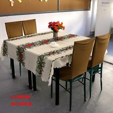 Christmas tree tablecloths white table cloth rectangular new year linen table