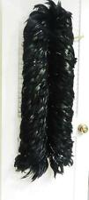 VINTAGE BLACK ROOSTER FEATHER BOA WITH SILVER THREADS 6' LONG  -  LB-C1393