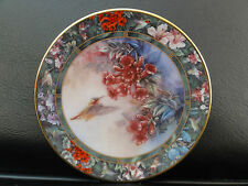 Bradford Exchange Bone China Miniature Plate - Lena Liu - Allen's Hummingbird