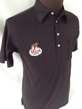 Vintage Official Mack Truck Polo Shirt Embroidered Logo Trucker Black M