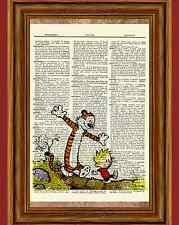 Calvin and Hobbes Dictionary Art Print Book Page Picture Poster Comic Book Decor