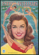"UNCOLORED ""Esther Williams Coloring Book"" #1591 Merrill 1950 (5982)"