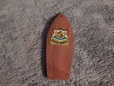 Antique Necklace / Keychain Pendant of Wooden Surfboard w/decal